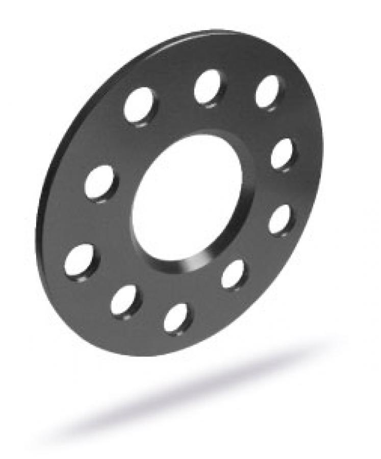 2 St/ück LK: 120//5+127//5 NLB: 74,1-15mm schwarz eloxiert SCC Spurverbreiterung 12308W